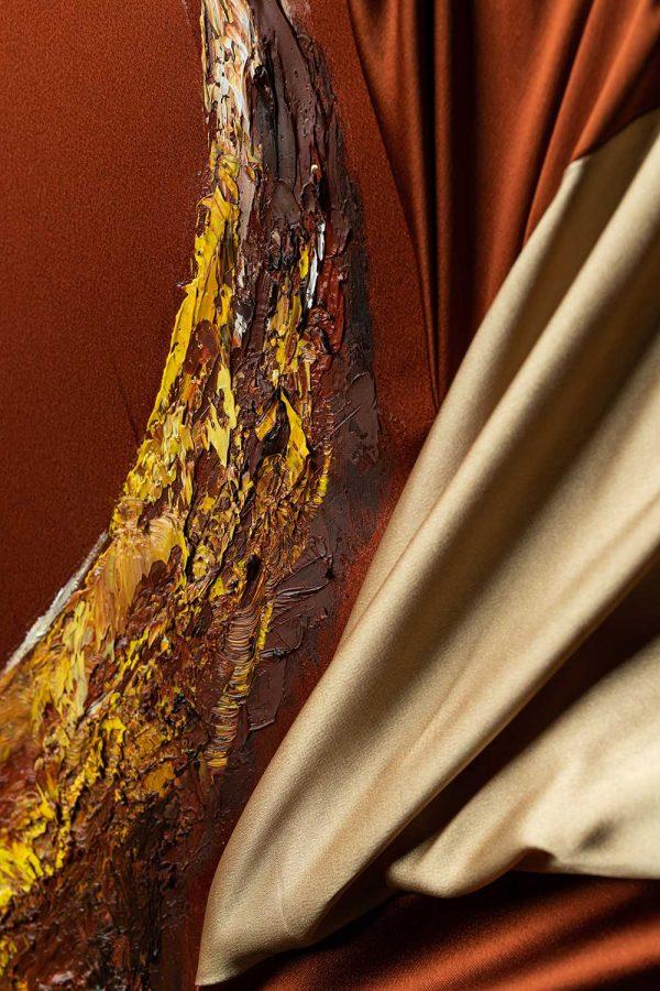 HelenaSirceljArt-Golden-Waterfalls-Original-Oil-Painting-Giorgio-Armani-Satin-Limited-Edition-2