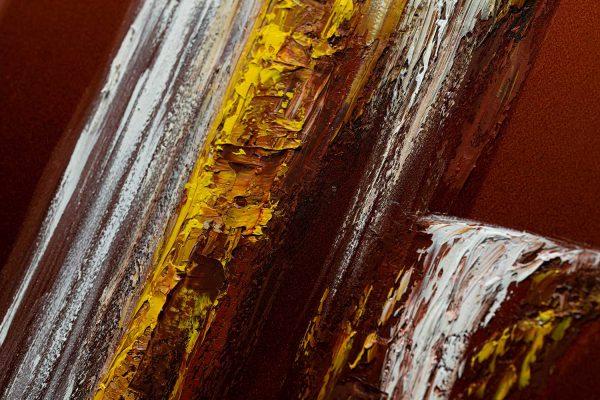 HelenaSirceljArt-Golden-Waterfalls-Original-Oil-Painting-Giorgio-Armani-Satin-Limited-Edition-3