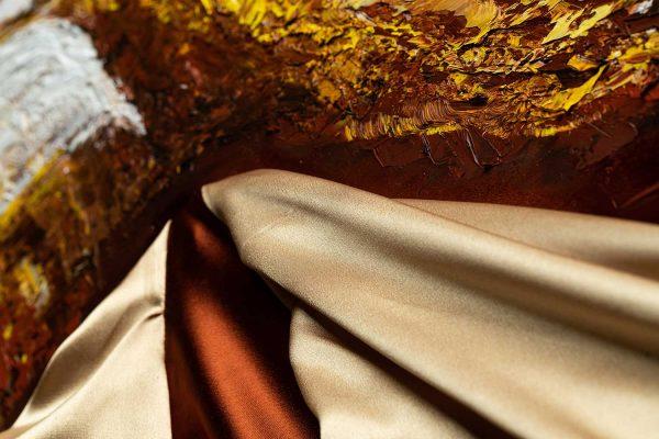 HelenaSirceljArt-Golden-Waterfalls-Original-Oil-Painting-Giorgio-Armani-Satin-Limited-Edition-5