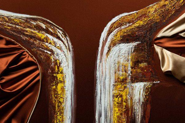 HelenaSirceljArt-Golden-Waterfalls-Original-Oil-Painting-Giorgio-Armani-Satin-Limited-Edition-6