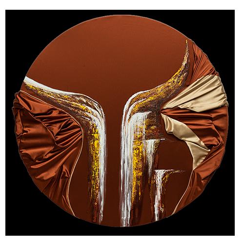 HelenaSirceljArt-Golden-Waterfalls-Original-Oil-Painting-Giorgio-Armani-Satin-Limited-Edition-detail