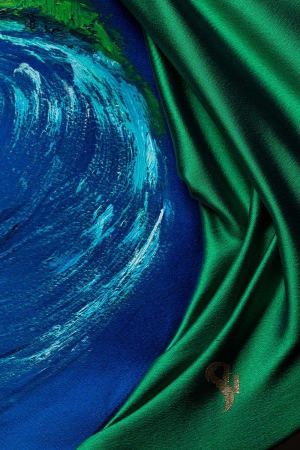 HelenaSirceljArt-Molokai-Hawaii-Original-Oil-Painting-Giorgio-Armani-Satin-Limited-Edition-1