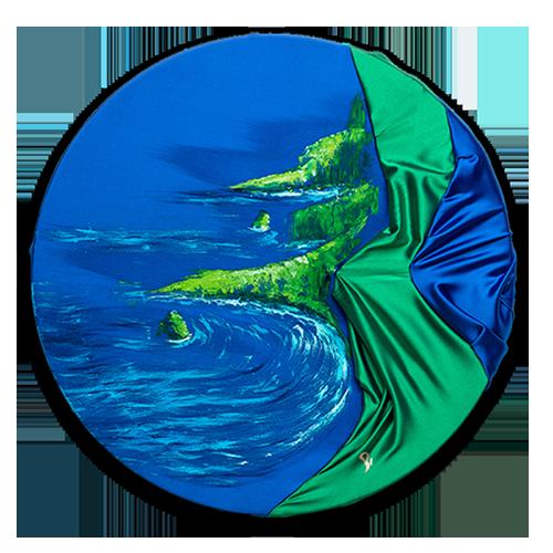 HelenaSirceljArt-Molokai-Hawaii-Original-Oil-Painting-Giorgio-Armani-Satin-Limited-Edition-detail