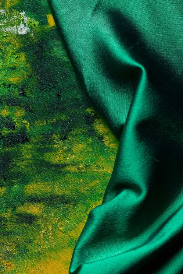 HelenaSirceljArt-Waterfall-Madakaripura-Original-Oil-Painting-on-Giorgio-Armani-Satin-Limited-Edition-2